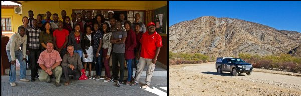 The group of students from the University of Namibia's Katima Mulilo campus were keen participants in the training workshop presented there. The Ford Wildlife Foundation's Ranger performed well during the 4500km road-trip through Namibia and Botswana.