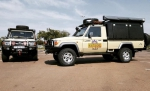 Voetspore in INDIA with Alu-Cab overland products.