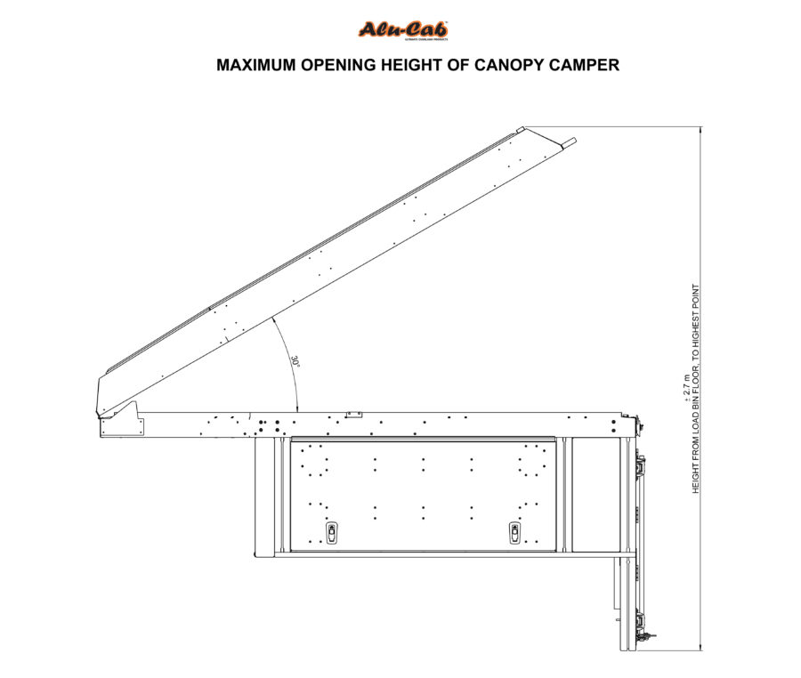 Canopy Camper - Maximum Opening Height
