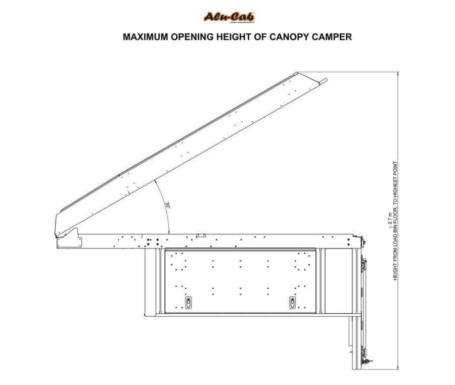 Canopy Camper - Maximum Opening Height